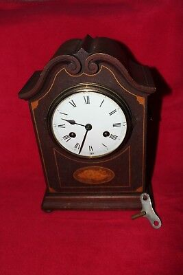 Antique Philip Haas Bracket Clock - Germany in VGC with Original Key & Pendulum