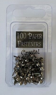 TINY ROUND SILVER BRADS - pack of 100 - Creative Impressions
