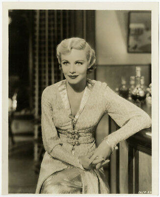 Icy Art Deco Blonde Femme Fatale Madeleine Carroll Sepia Photograph Vintage 1936