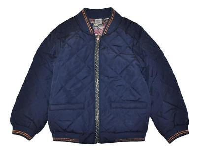 Jessica Simpson Girls Navy Blue Reversible Flight Jacket Size 7/8 10/12 14/16