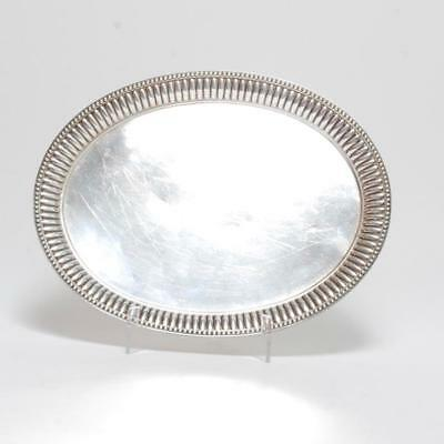 Vintage Sterling Silver Oval Platter W/ Bead Edge By Dominick & Haff