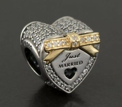 Authentic Pandora Just Married Wedding Charm 792083CZ