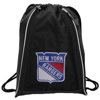 New York Rangers Drawstring Backpack, Black