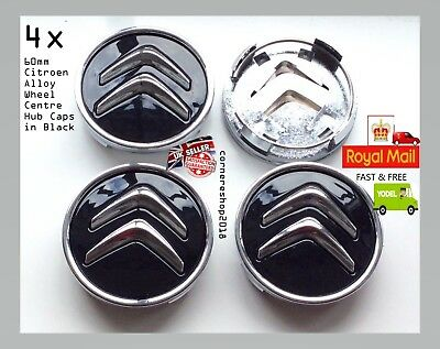 REPLACEMENT 4x 60mm Citroen Alloy Wheel Centre Hub Caps C1 2 3 4 5 8 DS3 Picasso