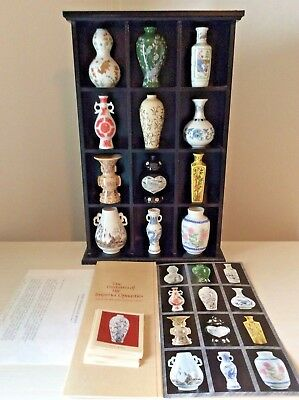 Set 12 Treasures Imperial Dynasties Mini Vases Chinese Porcelain Coa