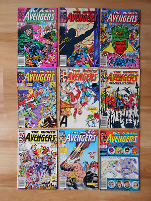 The Mighty Avengers  #241 - 253 Marvel 1984 - 85 Lot of 9 Comics High Grade