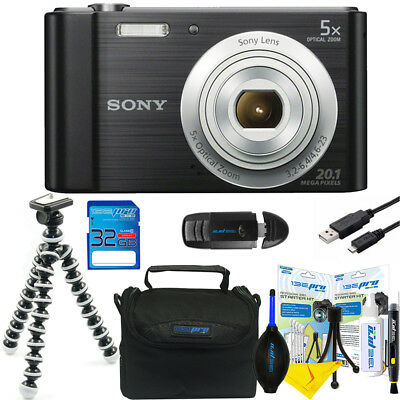Sony Cyber-shot DSC-W800 20.1MP Digital Camera - (Black) + 32GB Accessory Bundle