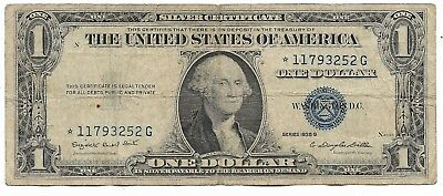 1935 Rare Antique US Blue Seal Silver Dollar Bill Certificate Collection ☆ Note