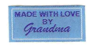 25 Craft Clothing Labels Woven - Blue Grandma Great as a Gift Label
