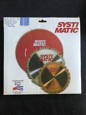 "10"" Systimatic Solid/Soft/Ply/Woods Cutting Saw Blade 0.085 Wide #37102 50 teeth"