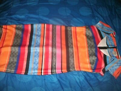 BEIGE BY ECI dress SIZE 4 MULTI-COLOR stripes Bright & Colorful (B141)