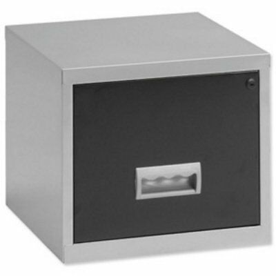 New, Pierre Henry Filing Cabinet Steel Lockable 1 Drawer A4 Maxi Silver and Ref