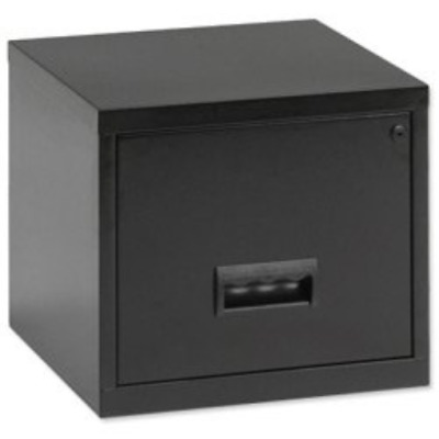 Brand New. Pierre Henry Filing Cabinet Steel Lockable 1 Drawer A4 Maxi Black Ref