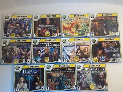 Lot Of 11 Big Fish PC Games Hidden Objective Adventures Mystery PC Games