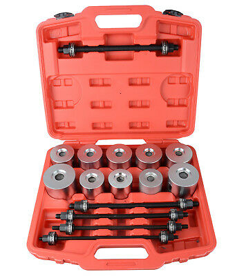 New 27pc Pull Press Sleeve Tool Kit Bearings Bushes Seals Removal Spindle Nut