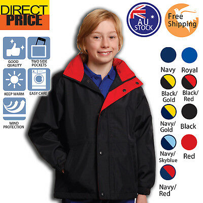 Kids Stadium Jacket Children Sport Oxford Shell Polar Fleece Winter boy girl