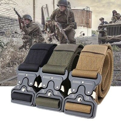Outdoor Hiking Army Tactical Waist Belt Strap Security Guard Paramedic Waistband