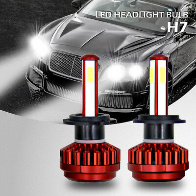 2x Car LED Headlight Kit H7 980W 147000LM Super Bright Fog Bulb Lamp 6000K LD128
