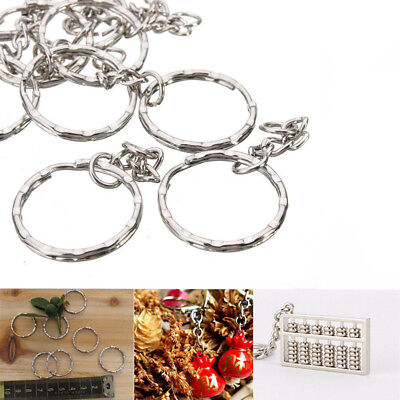 10/50100PCS Keyring Blanks Silver Key Chains Findings Jewelry Making Rings Tool