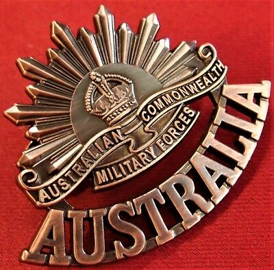 *anzac Ww1 & Ww2 Rising Sun Commemorative Uniform Badge Medals Australia Aif**