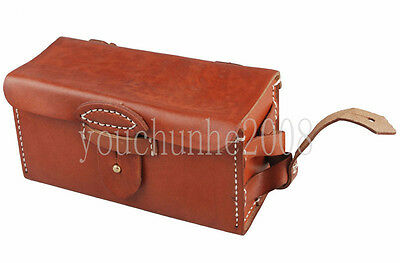 Wwii Imperial Japanese Arisaka Type 38 Leather Ammo Pouch Bag Case-33917