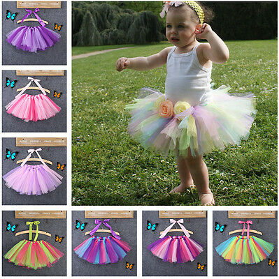 Toddler Kids Girl's Baby's Fluffy Pettiskirt Tutu Princess Skirt Dancewear Party