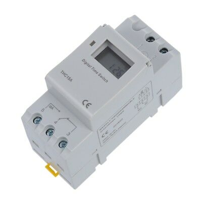 DIN Rail Time Relay Switch Digital LCD Power Programmable Timer DC 12V 16A S8A3