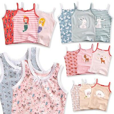 "Vaenait Baby Kids Girls 100% Cotton 3pcs Undershirts Set ""Tank Tops Cami"" 2-7T"