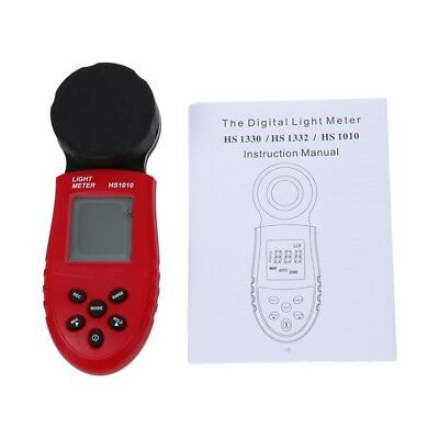 200,000 Digital Light Meter LCD Luxmeter Lux/FC Luminometer Photometer Meas G1S4