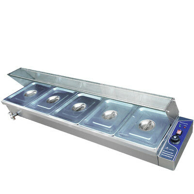 Stainless Steel Commercial Bain Marie Food Warmer Container Catering Machine