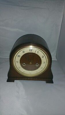 Smiths Art Deco Mantel Clock,  .Chimes  working  + Key.