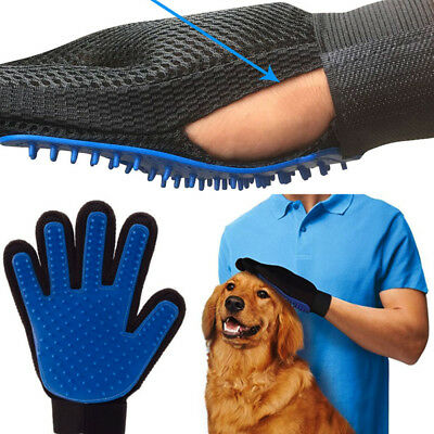 True Touch Pet Spazzola Leva Peli Animali Cani Dog Pulizia Guanto Massagiante