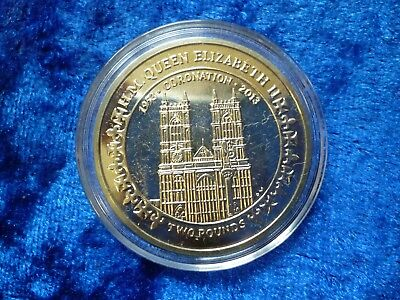 British Indian Ocean Territory 2013 £2 Coin Coronation 60th Ann. aBU capsule