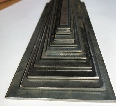 3mm Mild Steel FLAT BAR 10,13,16,20,25,30,40,50,60,70,80mm in 100mm increments