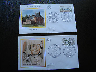 FRANCE - 2 envelopes 1st day 1981 (anne-marie javouhey/ch sully) (cy84) french