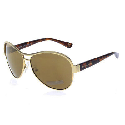 ae613ae3f2 Michael Kors Natalia Womens Gold Brown MK Aviator Sunglasses Shades M2473S  717