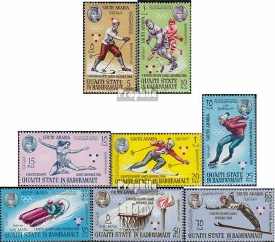 Aden-Qu´AITI State 123A-130A (complete issue) used 1967 olympic