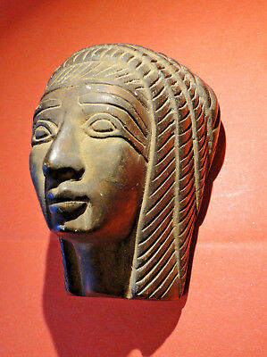 Stunning Large Ancient Egyptian Pharaoh Bust (Late Period: Circa 664 - 332 BC).