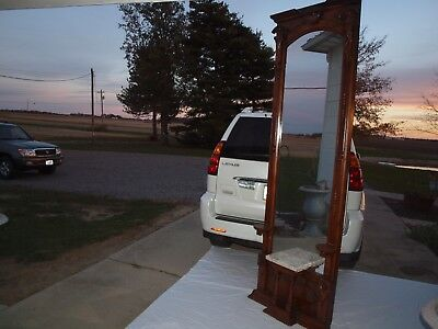 Solid Wood Antique Pier Mirror 1800's Renaissance Victorian 1 of a Kind!