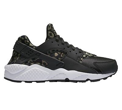 45b4112dcb41 Nike Air Huarache Leopard Womens 725076-007 Black Khaki Running Shoes Size 6