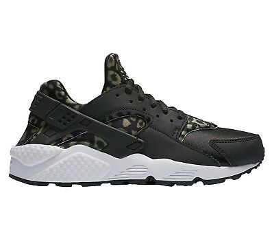 01d23693f688a Nike Air Huarache Leopard Womens 725076-007 Black Khaki Running Shoes Size 6