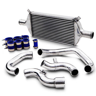 """2.5"""" 63mm BLACK ALLOY FRONT MOUNT INTERCOOLER FMIC FOR VW GOLF BORA POLO UP GTI"""