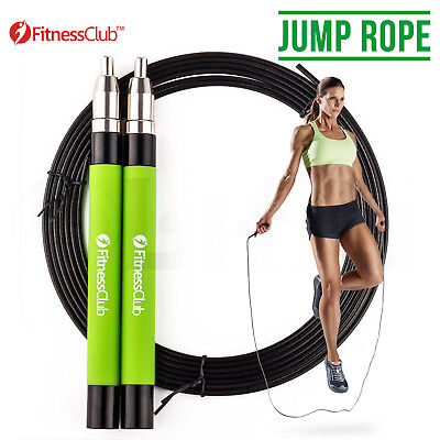 Green Speed Skipping Rope Boxing Exercise Jump Fitness Crossfit MMA Training A