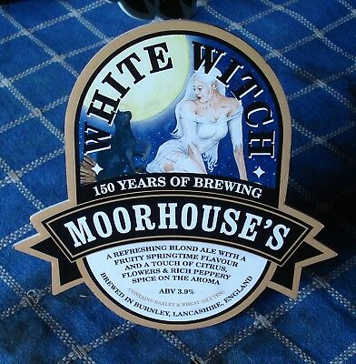 Moorhouse Brewery White Witch beer pump clip badge Collectable