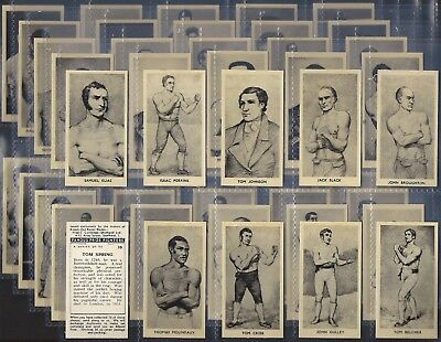 Cartledge-Full Set- Famous Prize Fighters (50 Cards) Boxing - Exc+++