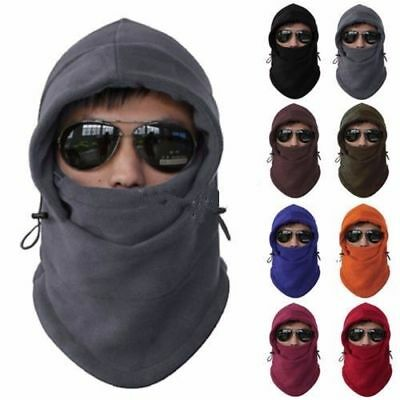 Winter Fleece Balaclava Hat Ski Motorcycle Motorbike Neck Face Mask Hood Cap AU
