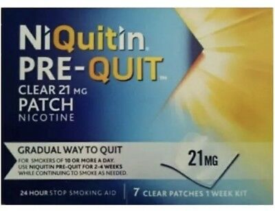 NiQuitin Pre-Quit Clear 24 Hour 7 Patches, 21mg - 1 Week Kit Free Post