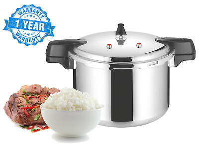 15L Heavy Duty Aluminium Stovetop Pressure Cooker Steamer Fast Cooking 30cm