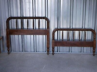 Antique Family Estate Jenny Lind Twin Bed & Rails, Heavy Thick & Solid