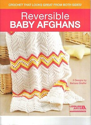 Reversible Baby Afghans ~  Crochet Book  ~ 16 pages long ~ Leisure Arts